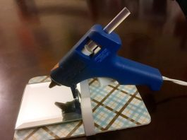 DIY hot glue gun holder