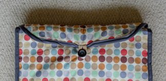 DIY baby changing mat