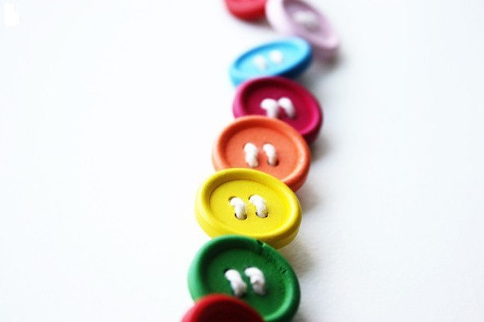 Choose colorful buttons for your project. (Photo: Morning Creativity)