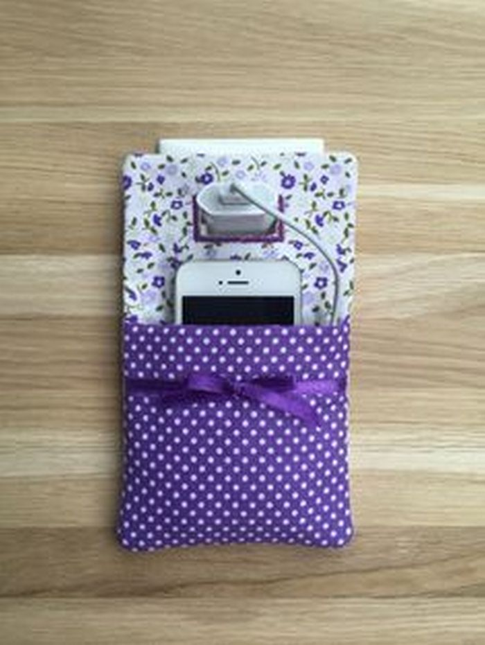 Sew Your Own Cellphone Charger Holder Craft Projects For