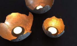 DIY Concrete Balloon Candle Holder
