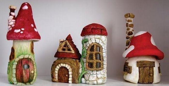 DIY Mushroom Fairy House From Jars