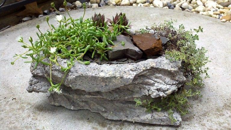 DIY Paper-crete Garden Sculptures