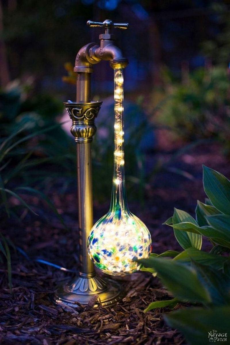 DIY Faucet Garden Light