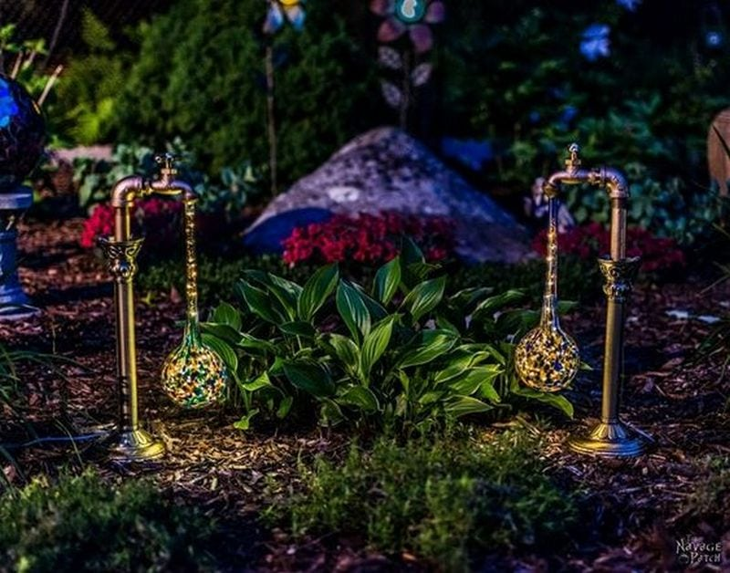 These DIY faucet garden lights are magical and dreamy!