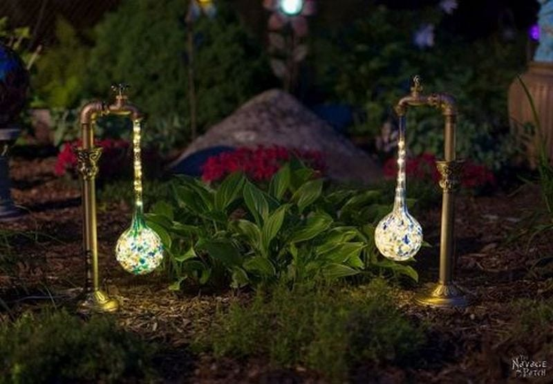 Transform your garden into an enchanting place at night with the use of faucet garden lights.