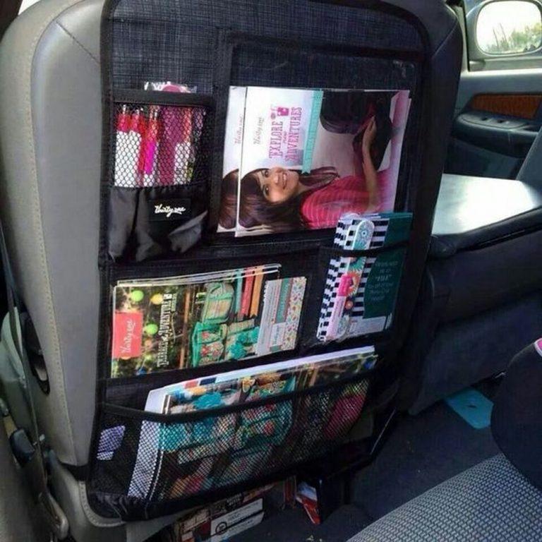DIY Back Seat Car Organizer