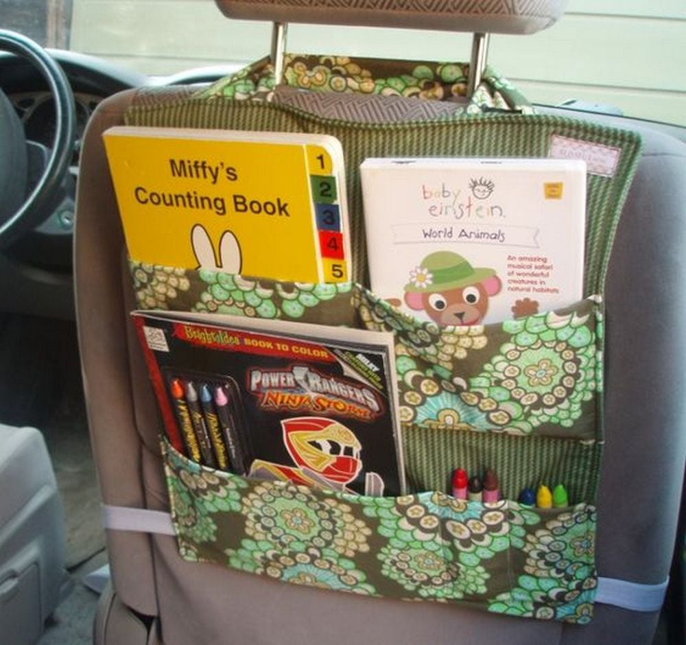 This DIY back seat car organizer is very useful and practical.