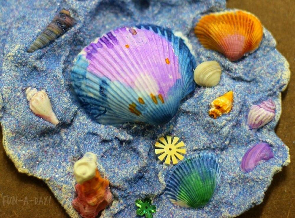 Kids Seashell Collage