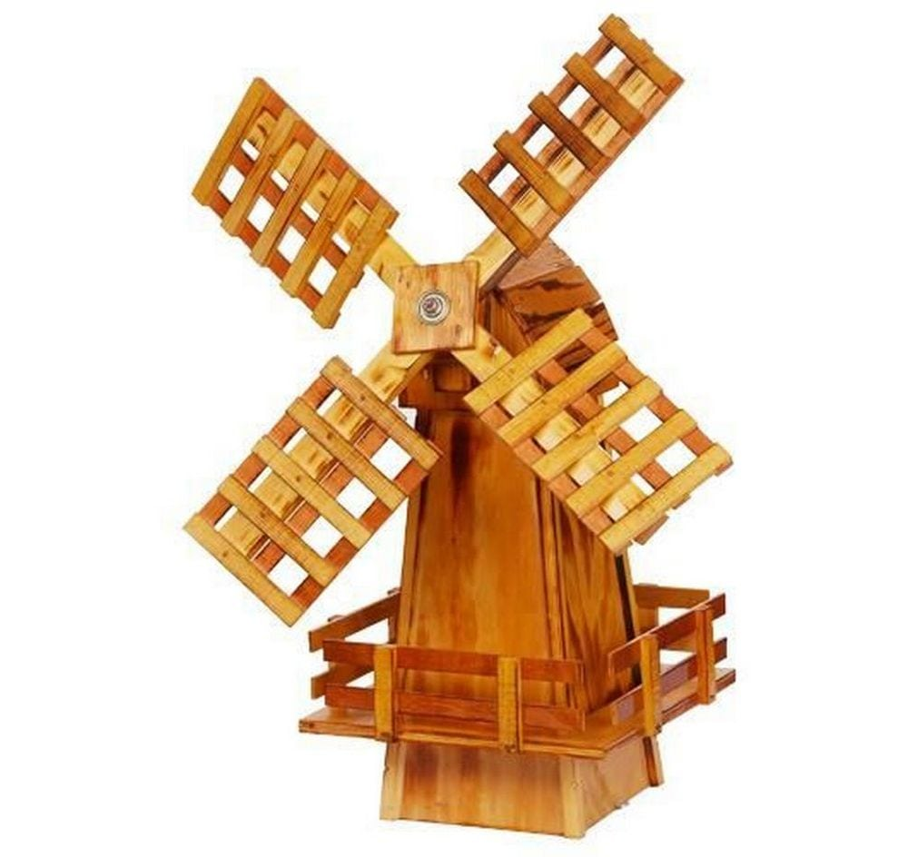 This garden windmill will make a great addition to your backyard.