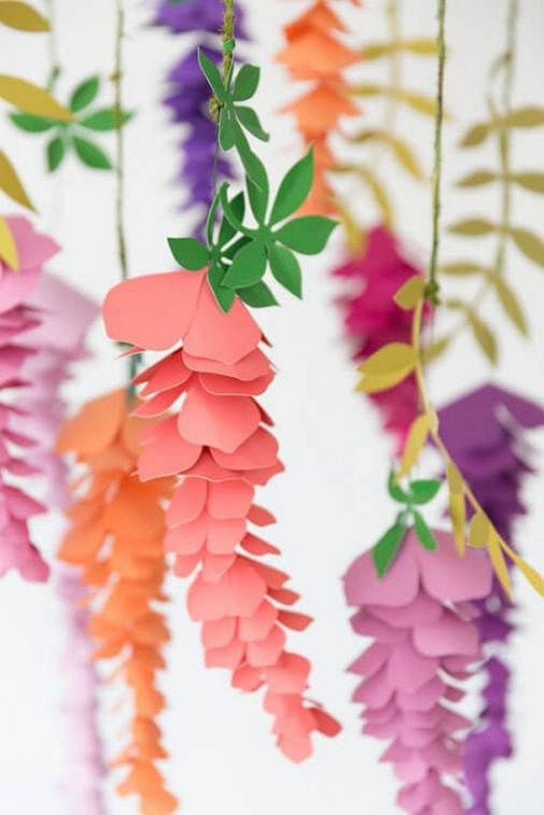 How to Make Paper Wisteria