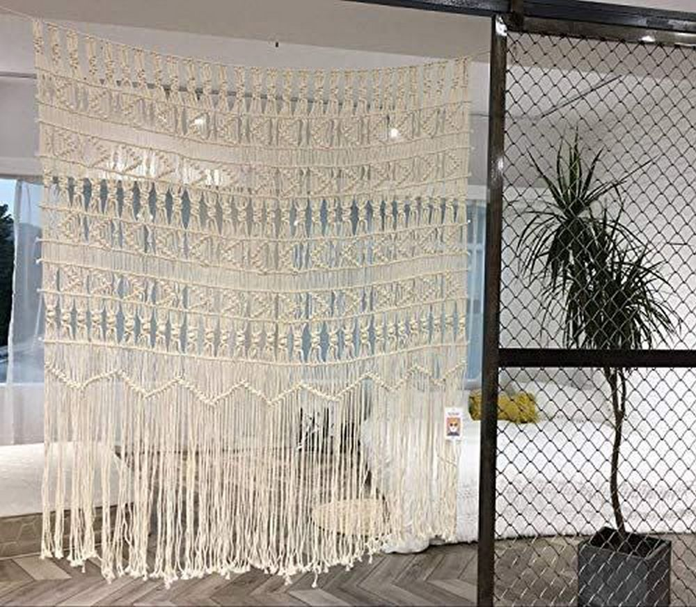 These macrame curtains will be great additions to any room in the house.