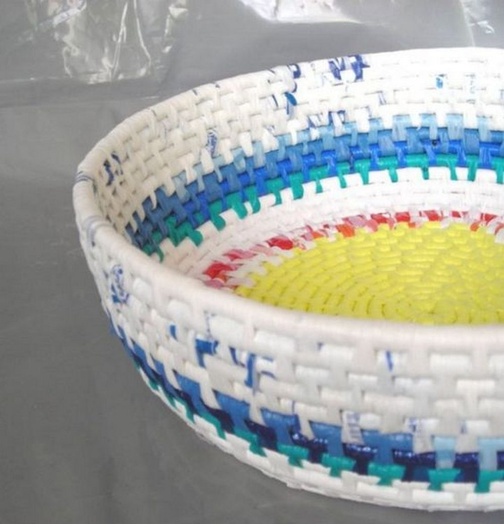 Got lots of plastic bags? Turn them into a basket!