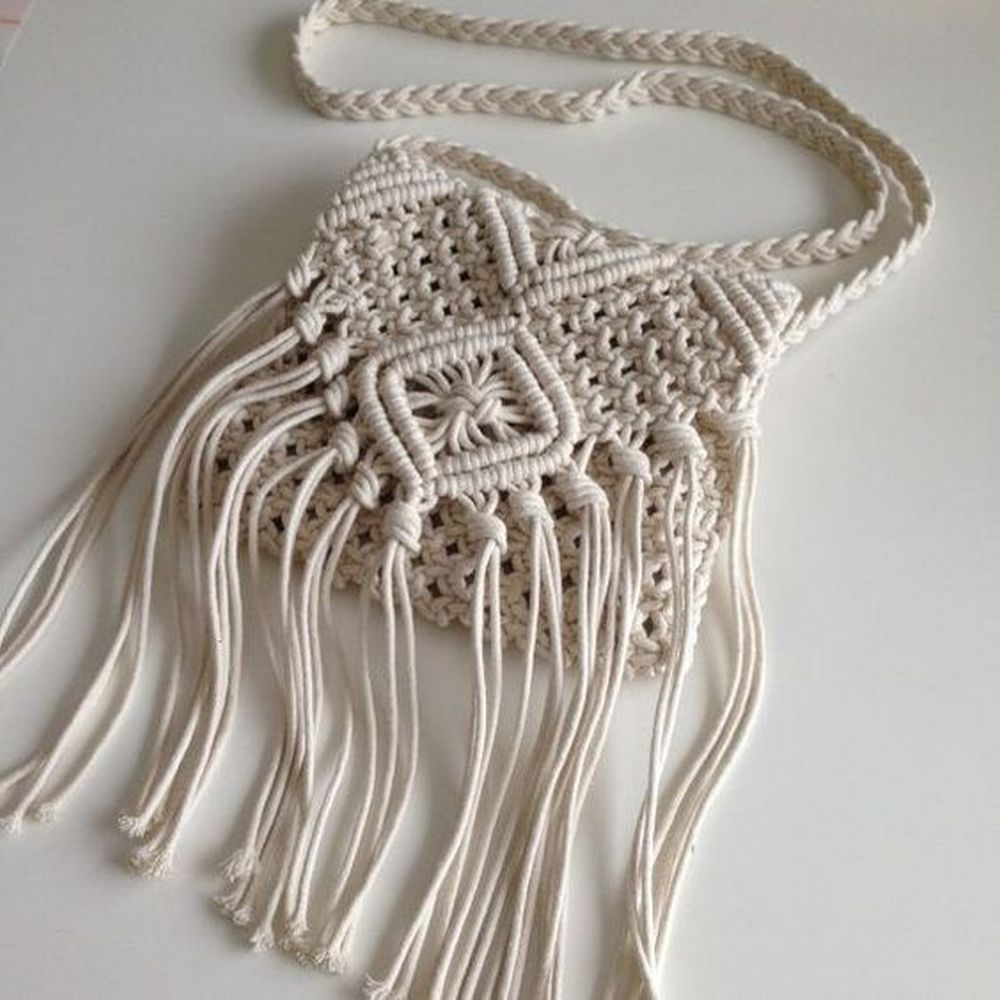 Chic, trendy, and stylish, this macrame bag is something both teens and adults will love.