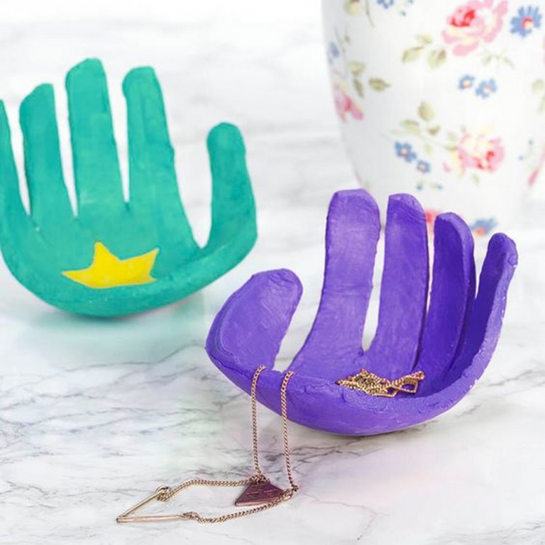 DIY Handprint Jewelry Dish
