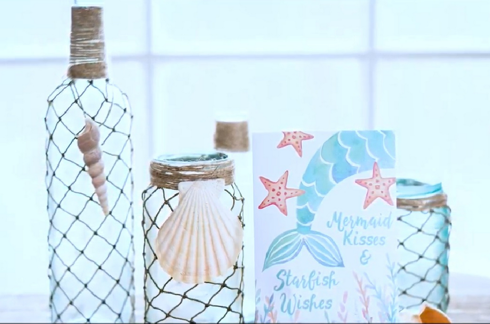 These cute nautical bottles are very simple and easy to make, and inexpensive, too!