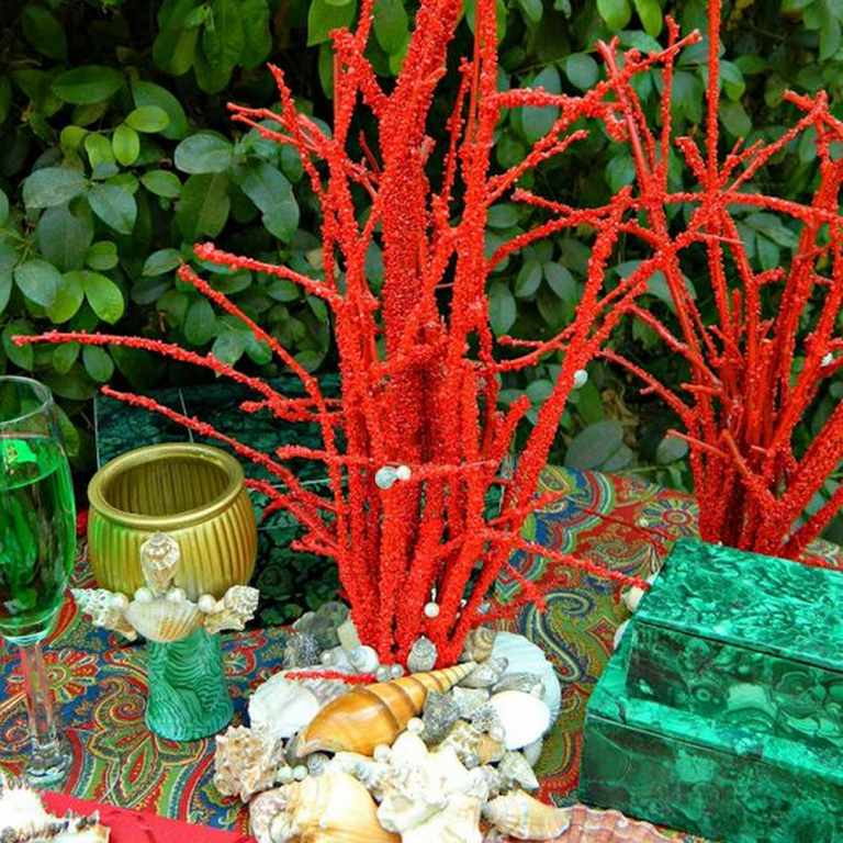 DIY Faux Coral Decor
