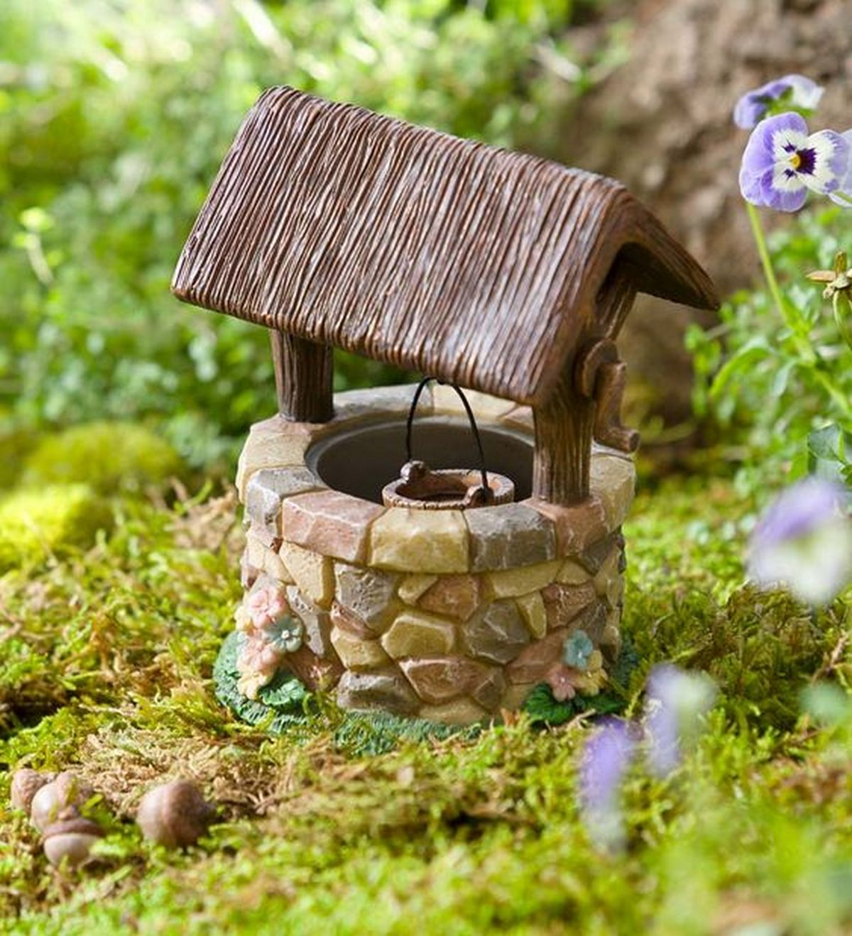 Fairy garden wells will be a charming addition to your fairy gardens.