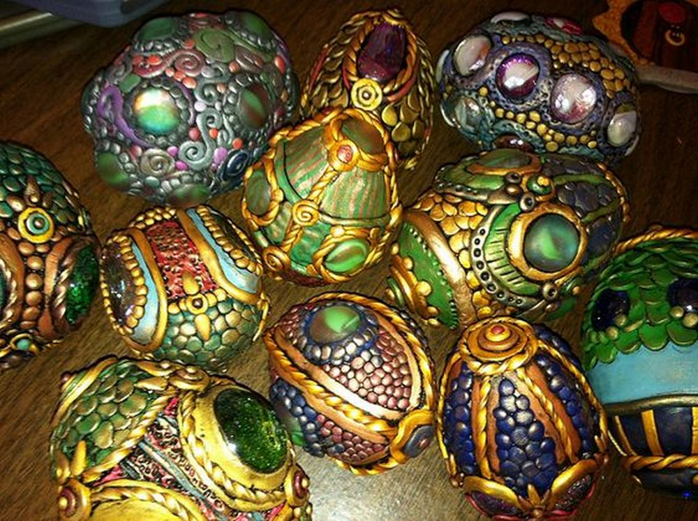 Look at the intricate details in these dragon eggs!