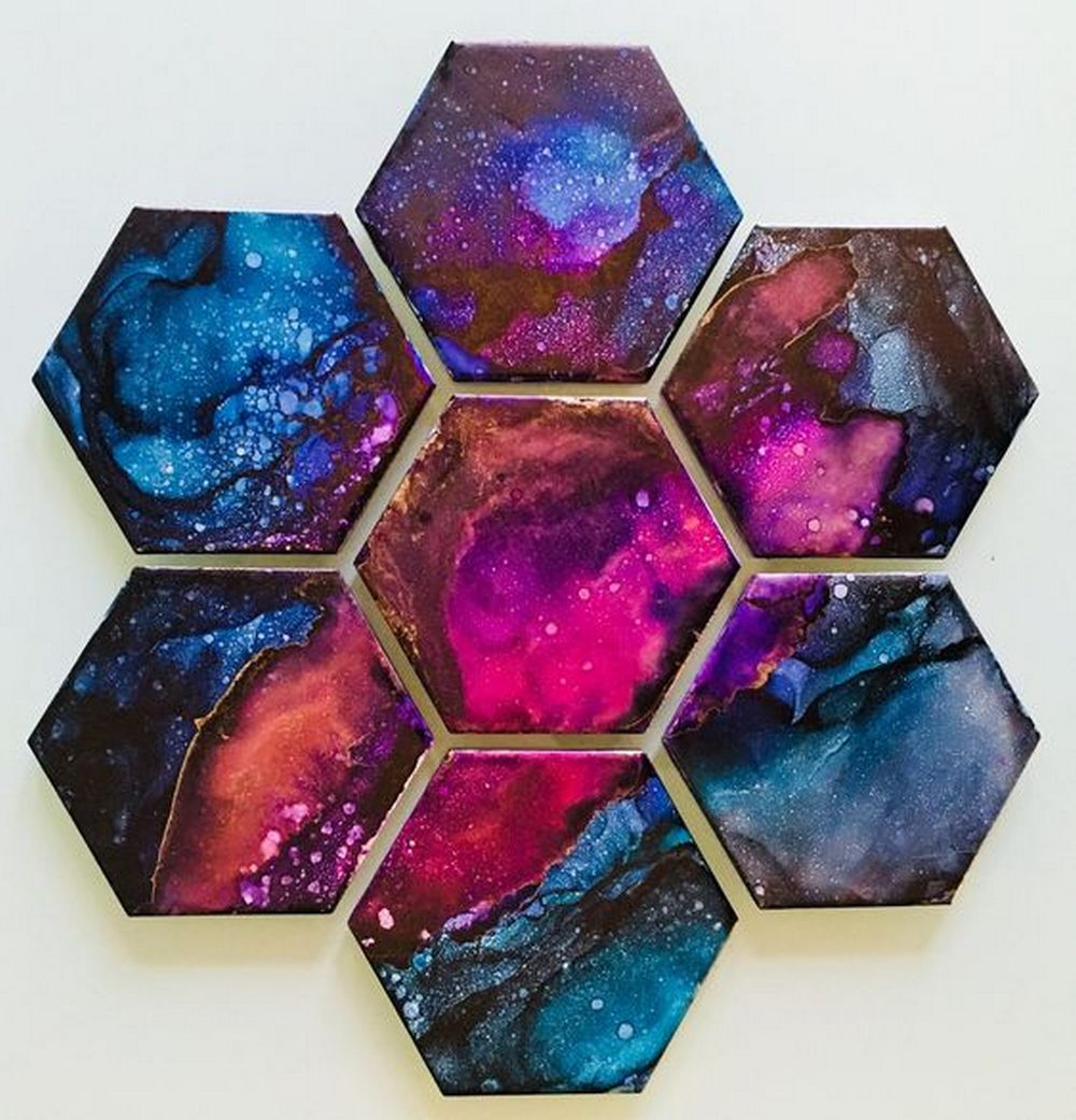 These adorable galaxy coasters will be great as gifts!