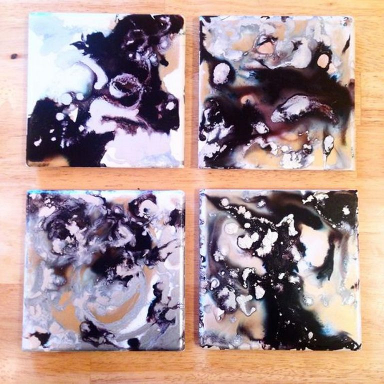 How to Make Galaxy Coasters