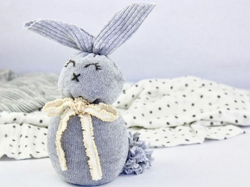 Now you don't wait for Easter; you can have this adorable sock bunny all year round!