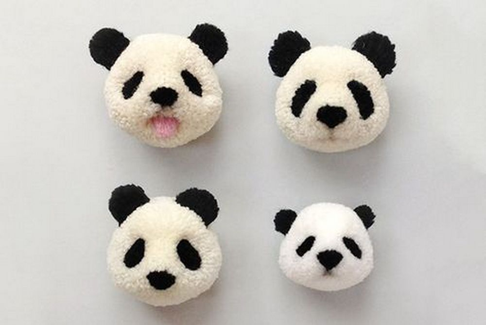 Panda pom poms... aren't they adorable?