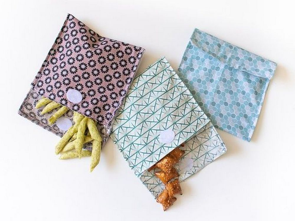 These DIY reusable snack bags are eco-friendly ways of snacking on the go.