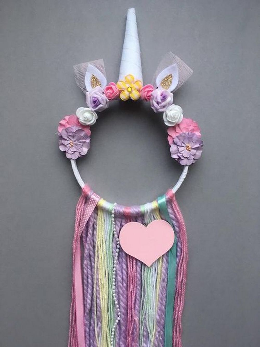 Make Your Own Unicorn Dreamcatcher Craft Projects For