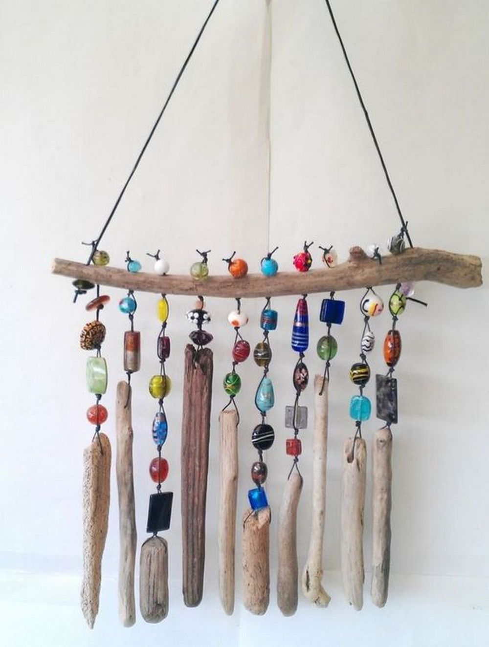 Unleash your creative juices and have fun with beads by making a beaded wind chime!