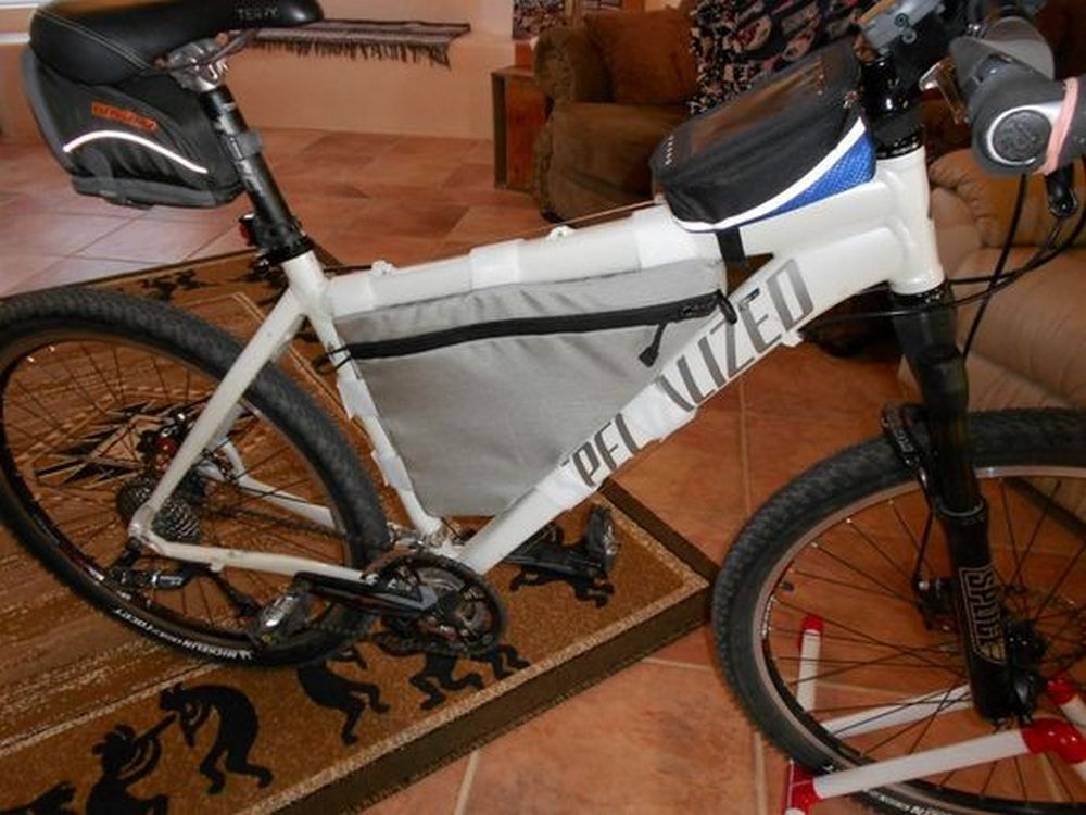 Planning on going somewhere far on your bike? Pack the essentials in your own bicycle frame bag!