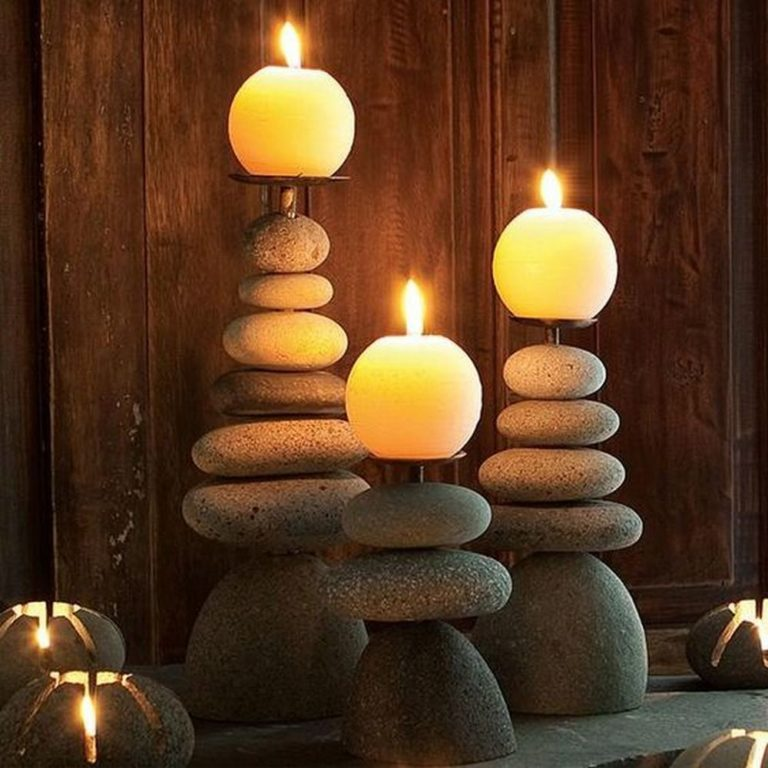 How to Make a Rock Candle Holder