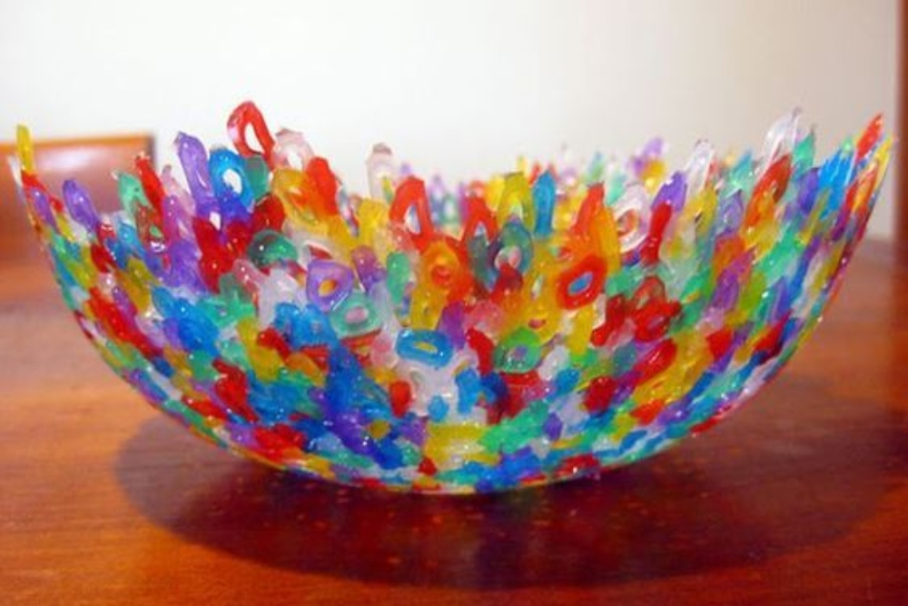How To Make A Bowl From Melted Beads