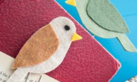 Easy DIY Felt Bird Bookmarks
