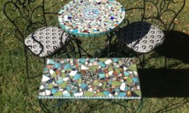 How to Make A Sea Glass Mosaic Table